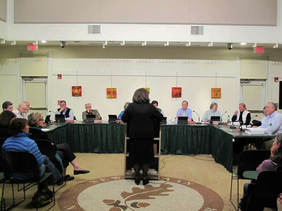 The town council heard from residents on April 3 at a public hearing at the New Canaan Nature Center before its final budget decisions April 9. Photo: Tyler Woods