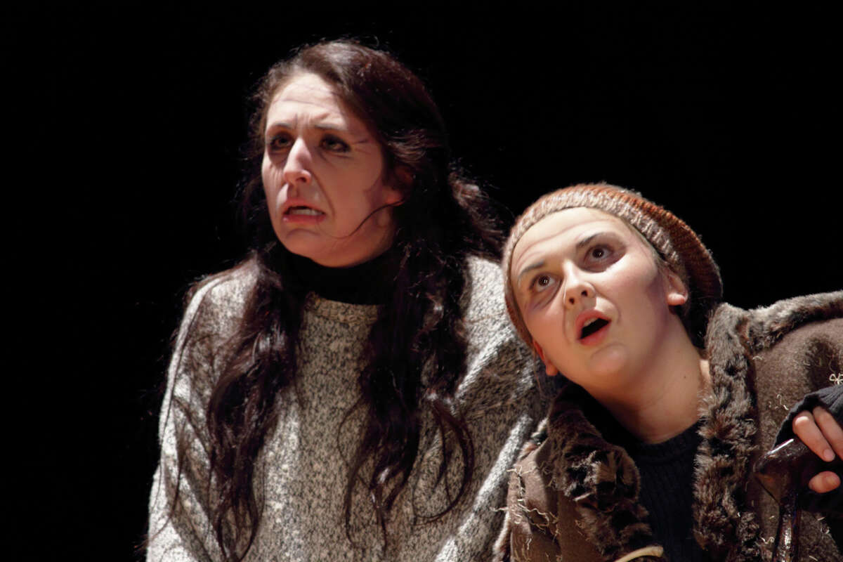 George Ranch High School actors Sarah May and Shannon Paradine will perform Friday.