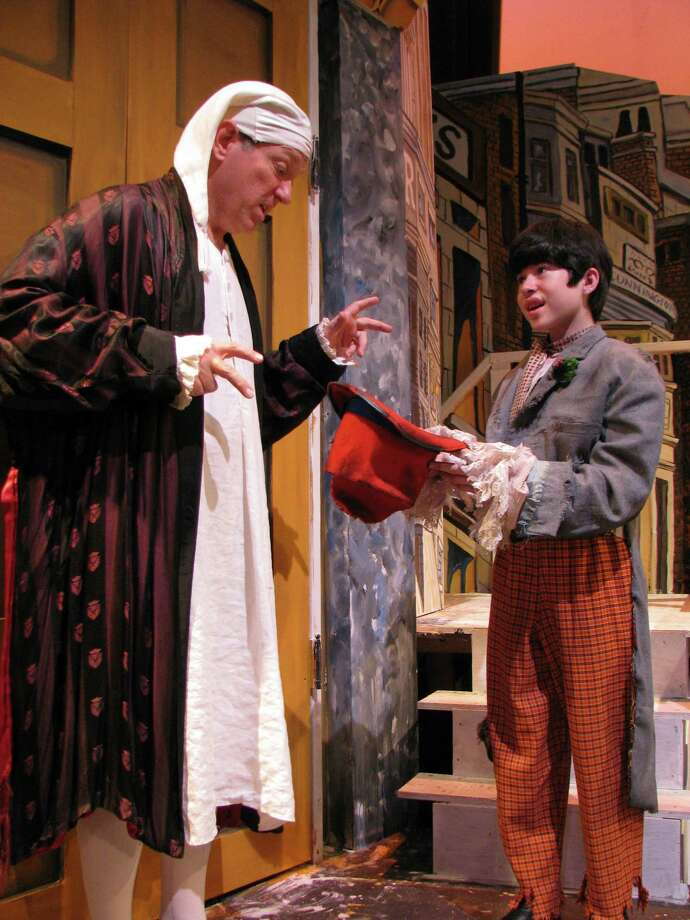 "Andy Richardson (right) and Byrd Bonner star in  San Pedro Playhouse's  ""A Christmas Carol."" Photo: San Pedro Playhouse"