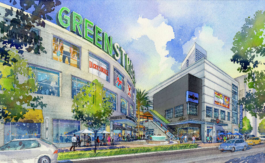 A rendering of the new GreenStreet sign.