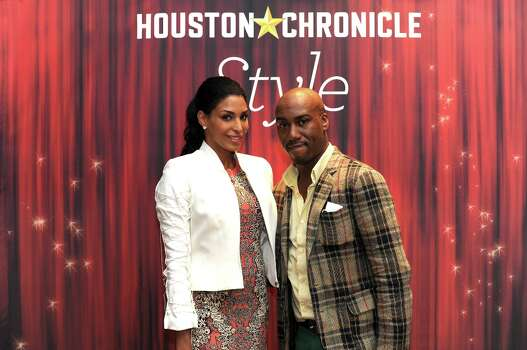 Ursaline Hamilton and Travis Cal (left to right) pose at the Houston Chronicle\'s 31st annual Best Dressed luncheon, at the Westin Galleria Hotel, Houston, Texas on the 3rd April 2013. Photo: Spike Johnson, For The Chronicle / Spike Johnson