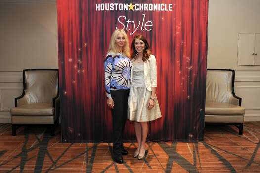 Naomi and Panina (left to right) pose at the Houston Chronicle\'s 31st annual Best Dressed luncheon, at the Westin Galleria Hotel, Houston, Texas on the 3rd April 2013. Photo: Spike Johnson, For The Chronicle / Spike Johnson
