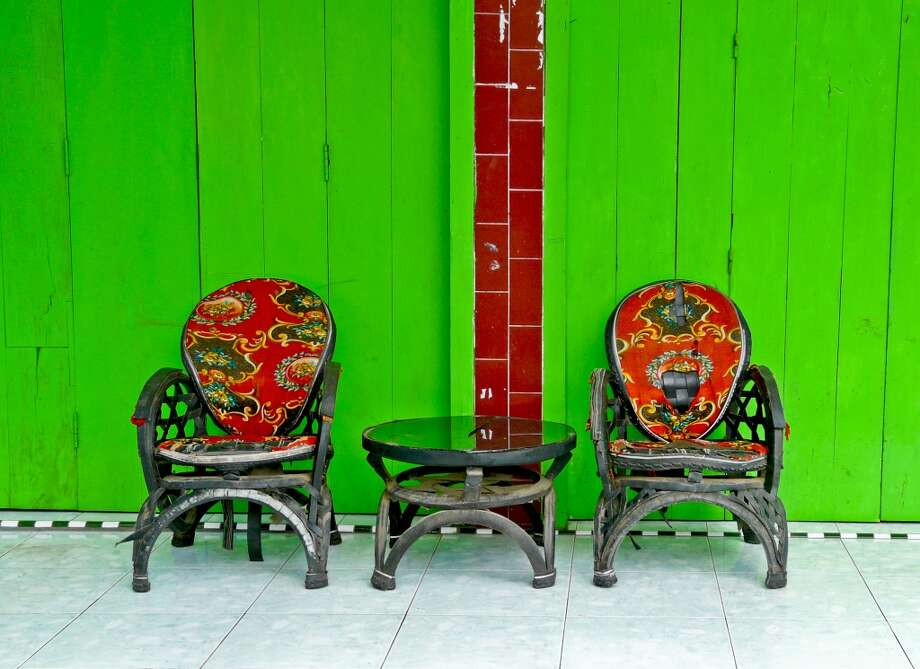 Recycled table and chairs