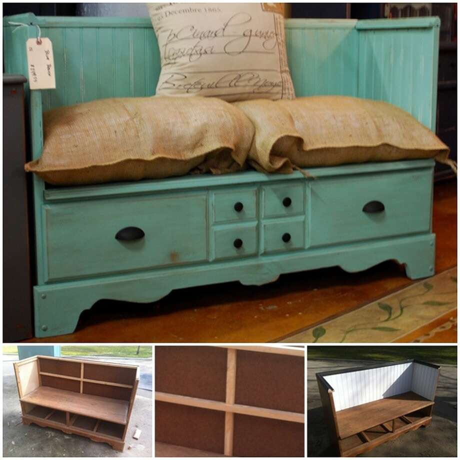 Check out this reclaimed bench from Pinterest.