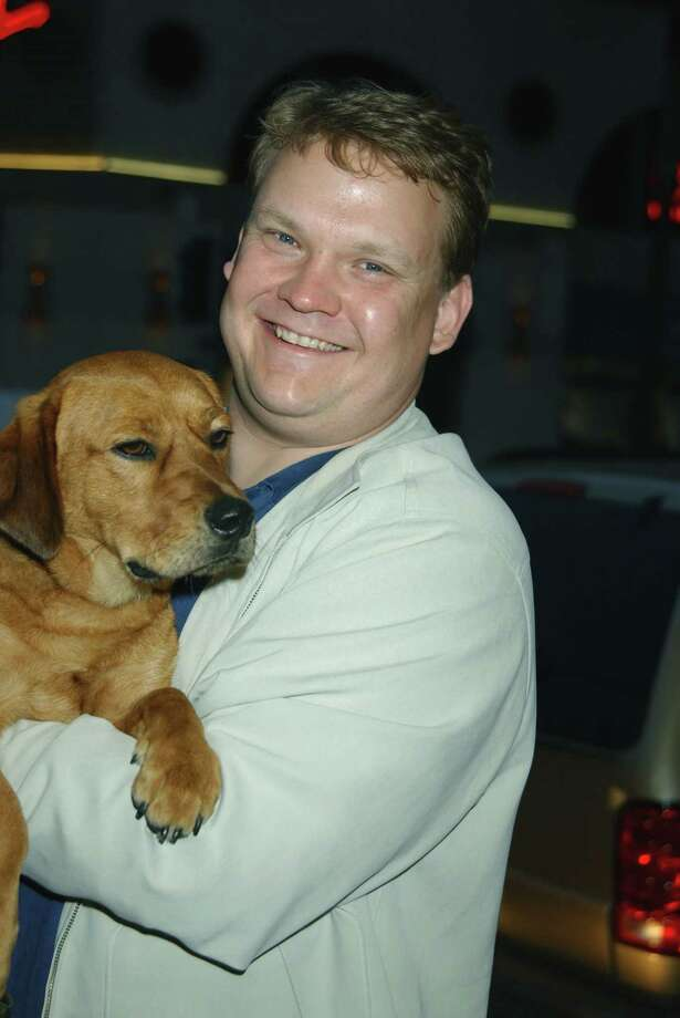 Andy Richter, aka Andy Richter, pictured in 2002 with Dudley. Photo: Maury Phillips Archive, Getty Images / 2002 wireImage.com