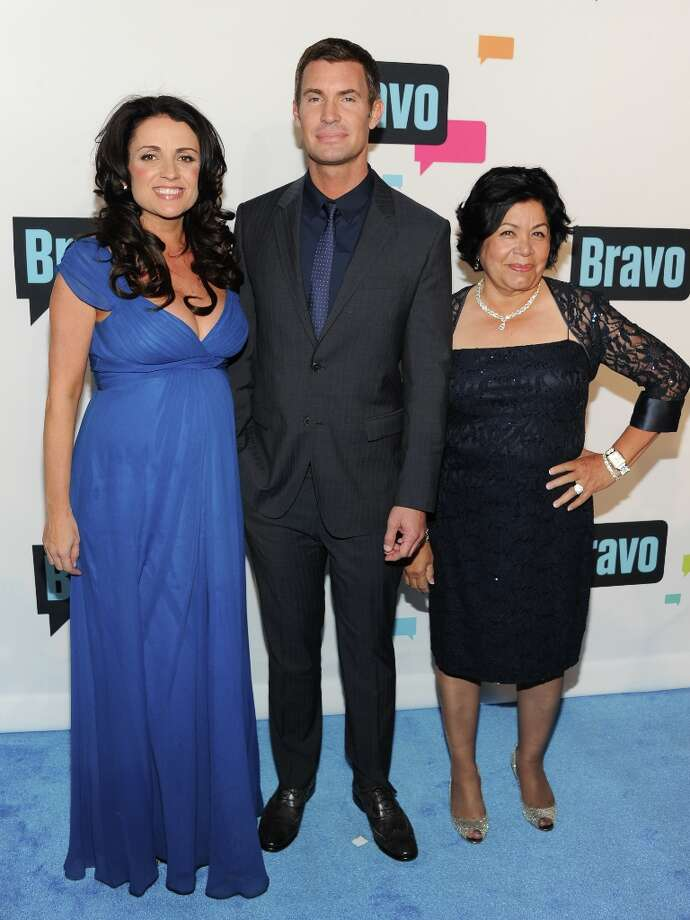 """Flipping Out\"" cast members, from left, Jenni Pulos, Jeff Lewis and Zoila Chavez attend the Bravo Network 2013 Upfront on Wednesday April 3, 2013 in New York. (Photo by Evan Agostini/Invision/AP) Photo: Evan Agostini, Associated Press / Invision"
