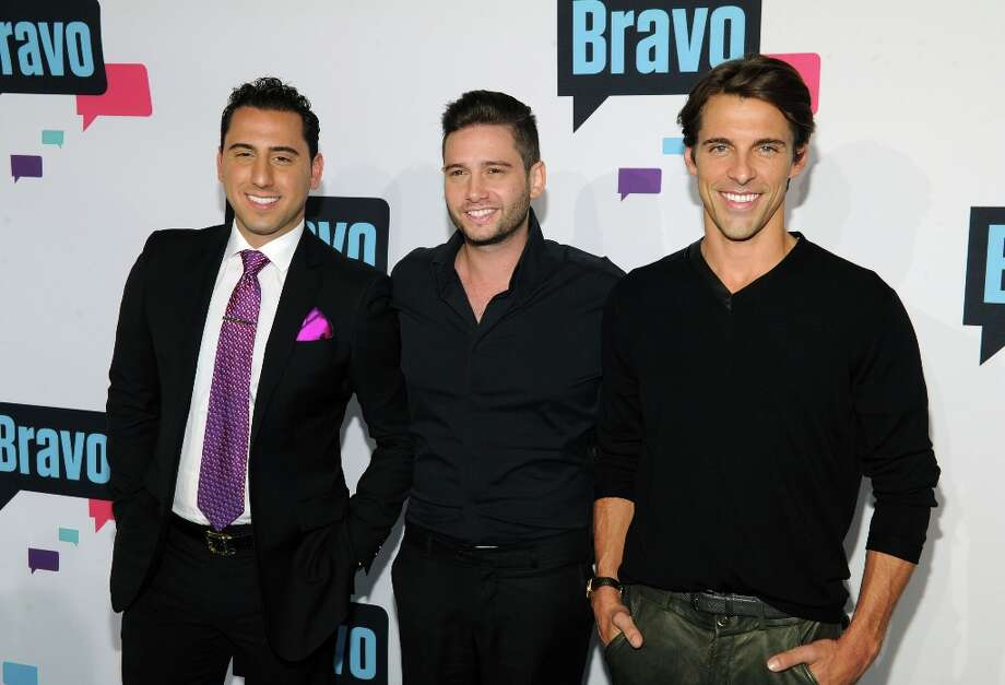 Josh Altman, Josh Flagg and Madison Hildebrand attend the 2013 Bravo New York Upfront at Pillars 37 Studios on April 3, 2013 in New York City. Photo: Craig Barritt, Getty Images / 2013 Getty Images