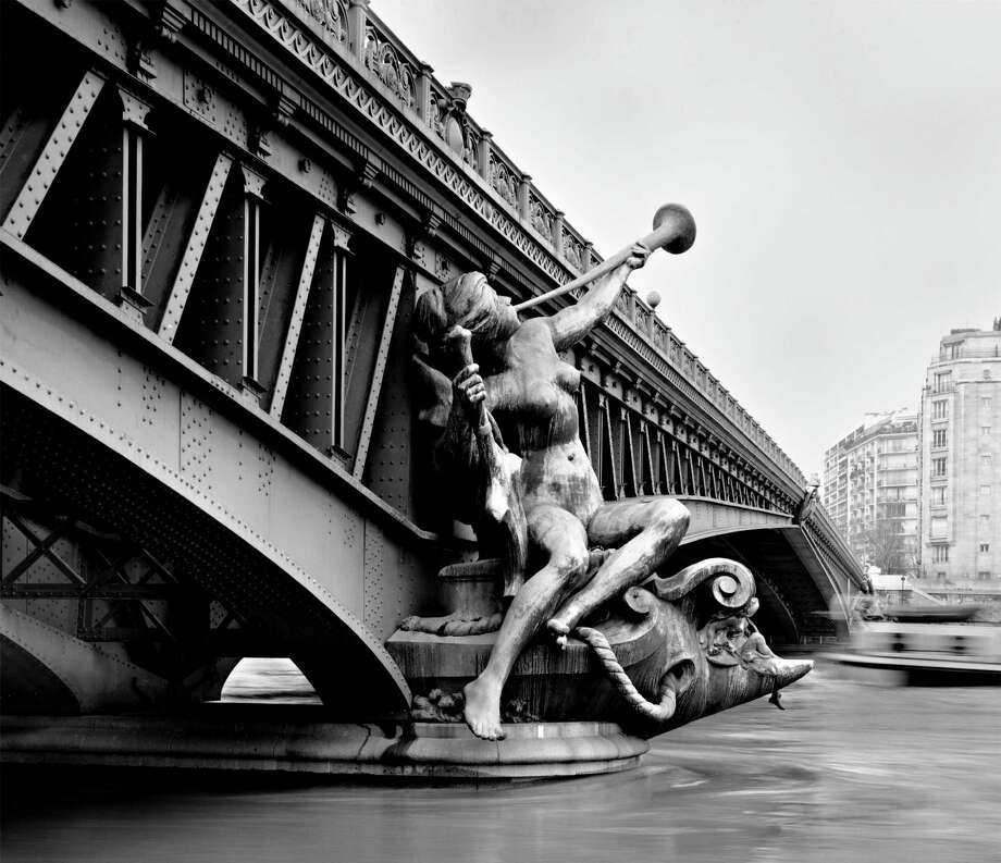 "Philip Trager's ""Pont Mirabeau (Mirabeau Bridge)"" was shot in 1995. The ornate bridge spans the Seine River in Paris. Photo: Contributed Photo, Contributed Photo/Philip Trager / Fairfield Citizen contributed"