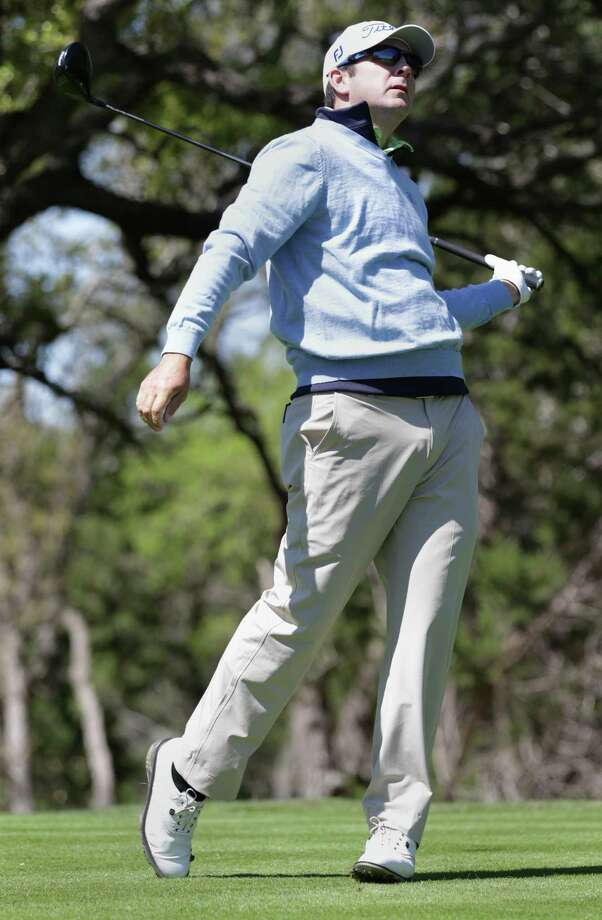 Ben Curtis, last year's winner, reacts to his drive on the 6th hole during the first round of the Valero Texas Open Thursday April 4, 2013. Photo: Bob Owen, Express-News / ©2013 San Antonio Express-News