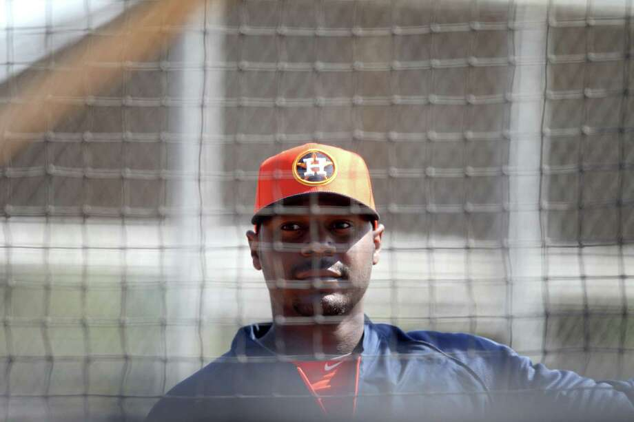 After starting his career 0-for-33, Chris Carter isn't worried about being 0-for-11 this season. Photo: Karen Warren, Staff / © 2013 Houston Chronicle