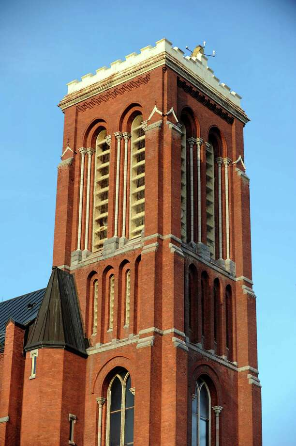 St. Patrick's Church bell tower of on Thursday, April 4, 2013, in Watervliet, N.Y. (Cindy Schultz / Times Union) Photo: Cindy Schultz / 10021886A