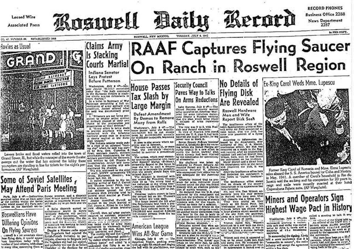 7. 21 percent of voters say the U.S. government for more than six decades has covered up a UFO crash in Roswell, N.M. A 1947 Newspaper helped launched the conspiracy theory, and Roswell has since profited on tourism based around the event.