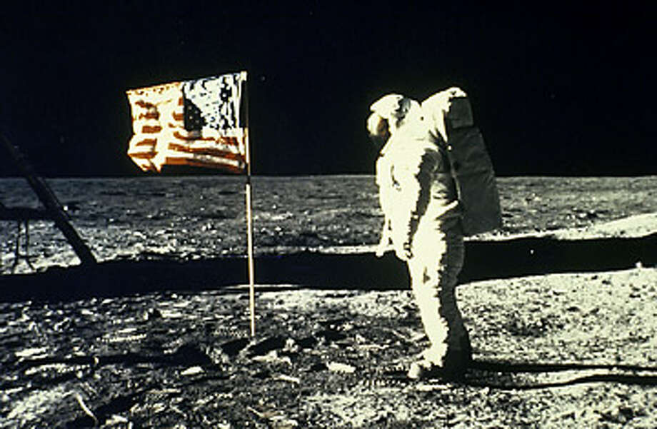 7% of voters think the moon landing was faked  A popular version of the theory says 2001: A Space Odyssey director Stanley Kubrick helped make the landing believable. (NASA photo)