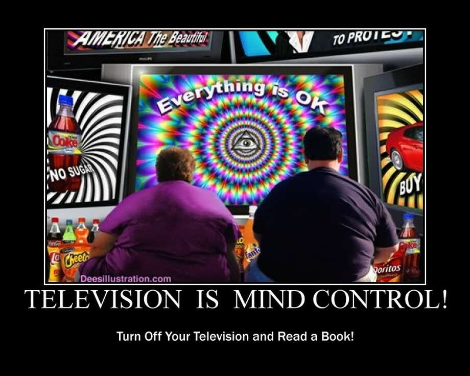 9. 15 percent of voters say the government (or the corporate media) has added mind-controlling technology to TV signals.  Image from DeesIllustration.com