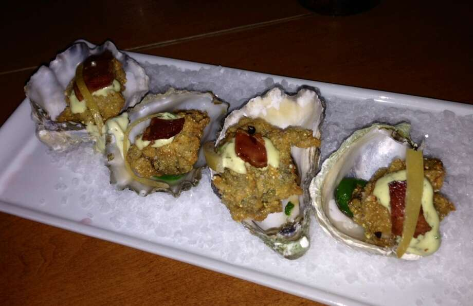 Cornmeal fried oysters at Town Hall