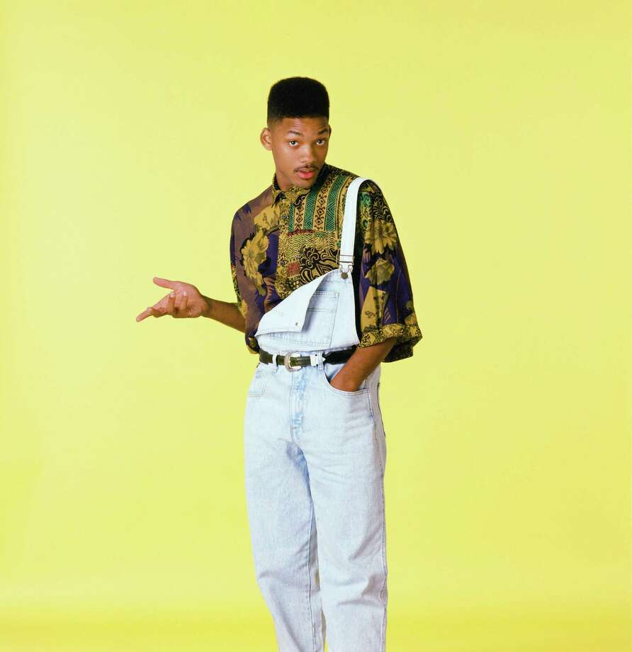 "And of course, Will Smith in ""The Fresh Prince of Bel-Air,"" sporting overalls worn 90s-style with one side unbuckled. Photo: NBC, Getty Images / © NBC Universal, Inc."