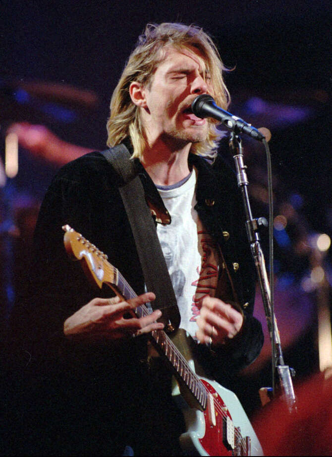 Kurt Cobain, shown performing Dec. 13, 1993. Photo: AP Photo/Robert Sorbo/Seattlepi.com File, Associated Press / AP