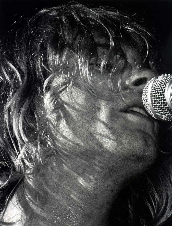 Kurt Cobain sings during Nirvana's concert at the Paramount in Seattle, Oct. 31, 1991. Photo: Kurt Smith/Seattlepi.com File