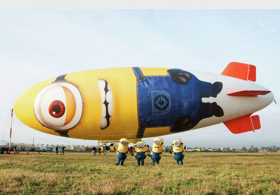 Several of the Minions from Universal Pictures and Illumination Entertainment's DESPICABLE ME 2 will be the first to board the Despicablimp.  (PRNewsFoto/Universal Pictures, Suzanne Hanover) Photo: SUZANNE HANOVER, Associated Press / UNIVERSAL PICTURES
