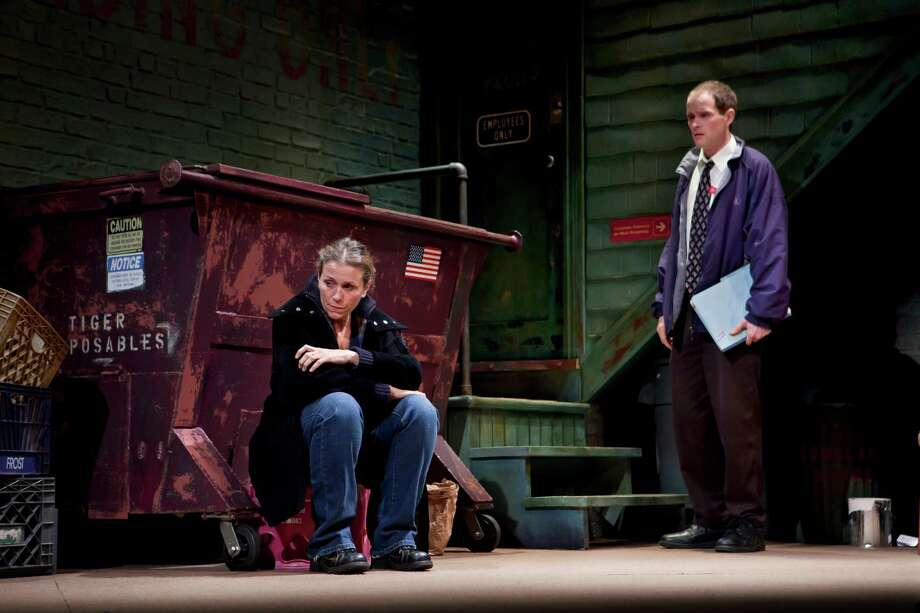 "Frances McDormand won a best-actress Tony in the Broadway premiere of David Lindsay-Abaire's ""Good People."" In the scene shown here, Margie's dollar store manager (Patrick Carroll) delivers bad news: she's fired. Photo: Sara Krulwich, STF"