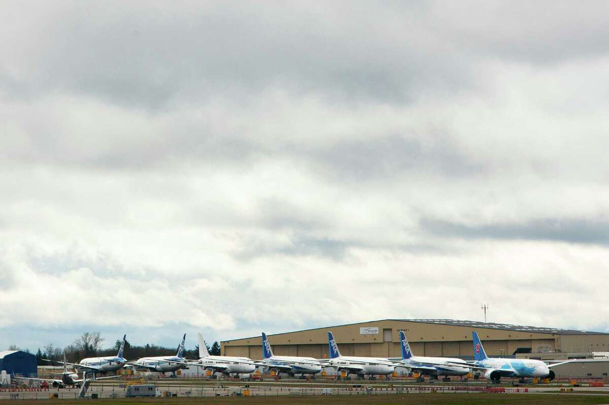 No. 2: Everett is the second least sunny city. Above, overcast weather is often the norm for Paine Field in Everett.