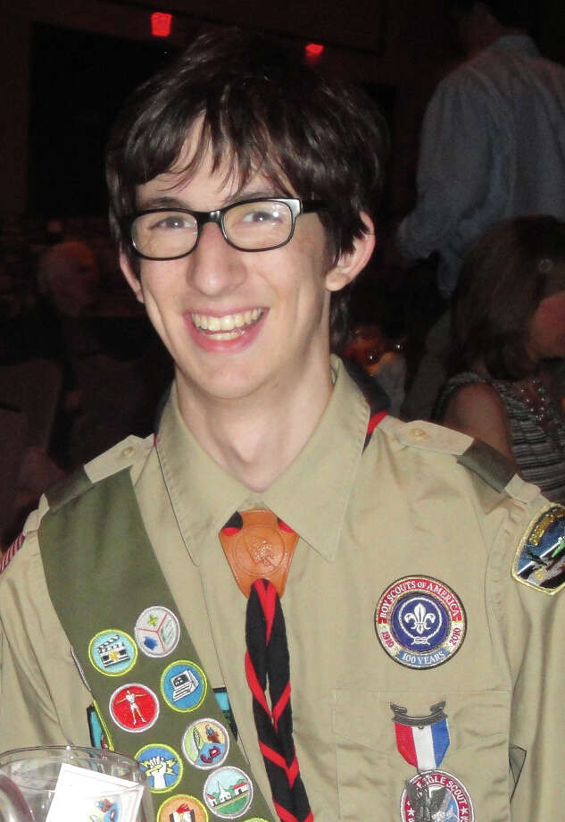 Greg Edelston, a 19-year-old Eagle Scout from Cos Cob, is calling on the Greenwich Council to reject the Boy Scouts of Americaís national policy banning gay youths and parents. Photo: Contributed Photo