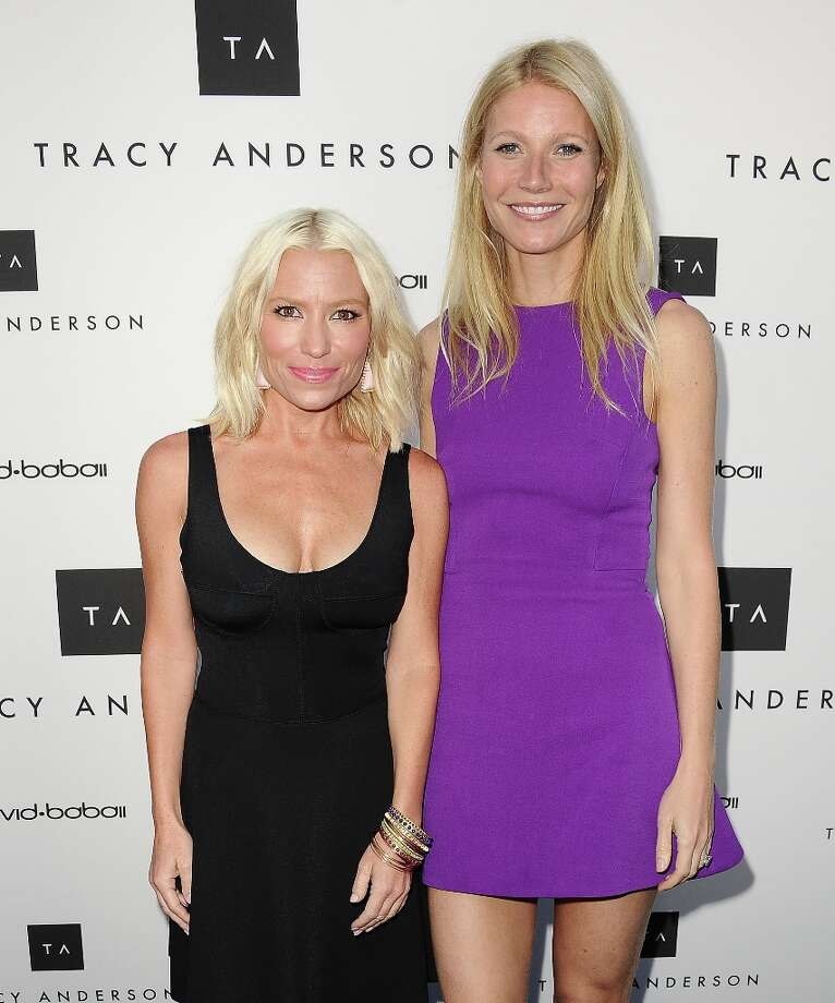 Tracy Anderson and Gwyneth Paltrow attend the opening of Tracy Anderson Flagship Studio on April 4, 2013 in Brentwood, California. Photo: Jason LaVeris, FilmMagic / 2013 Jason LaVeris