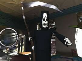 "Manuel ""Manny"" Calavera a reaper agent for the Department of the Dead in Lucasarts' classic adventure game, Grim Fandango.  The game was originally released in 1998."