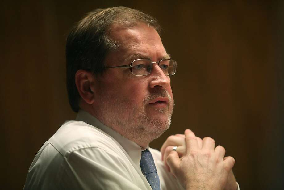 Conservative libertarian Grover Norquist listens to questions during an interview with the San Francisco Chronicle editorial board in San Francisco, California, on Friday, April 5, 2013.  Norquist is the founder and president of Americans for Tax Reform. Photo: Liz Hafalia, The Chronicle