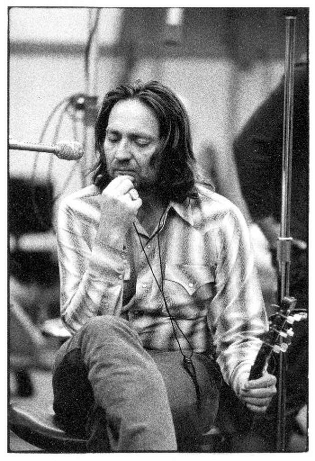 "Thoughtful Willie: Nelson enjoys a contemplative moment during the sessions for ""Shotgun Willie,"" his 1973 masterpiece.  Photo: Getty Images"