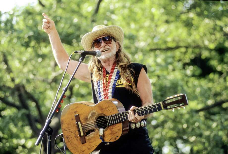 Willie performs with the Highwaymen at Central Park SummerStage, New York, New York, May 23, 1993. Photo: Jack Vartoogian, Getty Images / NO MODEL RELEASE ON FILE. Photograph © 1993 Jack Vartoogian/FrontRowPhotos. THIS PHOTOGRAPH FROM OUR ARCHIVES IS RELEASED FOR ONE-TIME ONLY USE. EACH USE OR PUBLICATION WILL BE INVOICED AT PREVAILING RATES. ALL RIGHTS RESERVED. TEL. 212-663-1341.