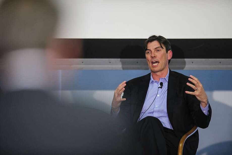 Tim Armstrong, chief executive officer of AOL Inc., speaks at the Society of American Business Editors and Writers (SABEW) 2013 Spring Conference in Washington, D.C., U.S., on Thursday, April 4, 2013. ( Pete Marovich/Bloomberg) Photo: Pete Marovich, Bloomberg