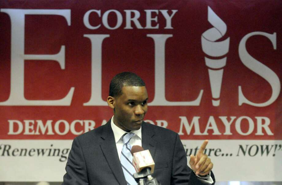 Corey Ellis announces his candidacy for mayor at the Hilton Albany on Friday April 5, 2013 in Albany, N.Y. (Michael P. Farrell/Times Union) Photo: Michael P. Farrell
