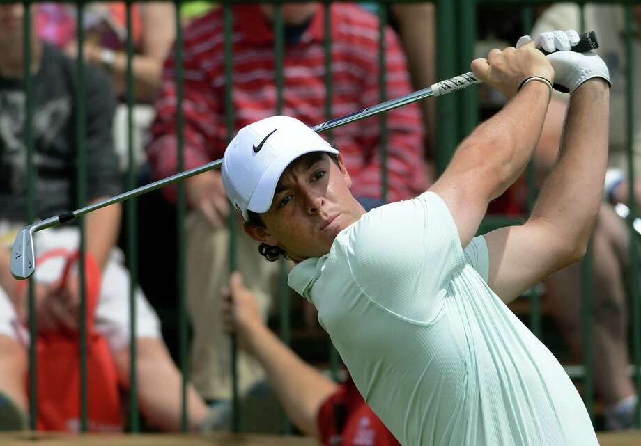 Rory Mcllroy tees off during the second round of the Valero Texas Open at TPC San Antonio's AT&T Oaks Course on Friday, April 5, 2013. Photo: Billy Calzada, San Antonio Express-News / San Antonio Express-News