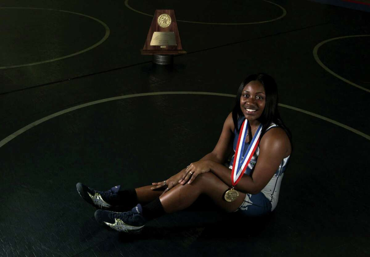 Senior Shaterica Henderson not only won the 165-pound title but also led Cypress Ridge to the Class 5A team championship.