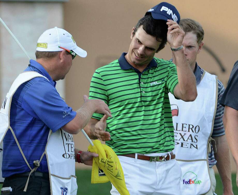 Billy Horschel smiles after finishing at 8 under par after the second round of the Valero Texas Open at TPC San Antonio's AT&T Oaks Course on Friday, April 5, 2013. Photo: Billy Calzada, San Antonio Express-News / San Antonio Express-News