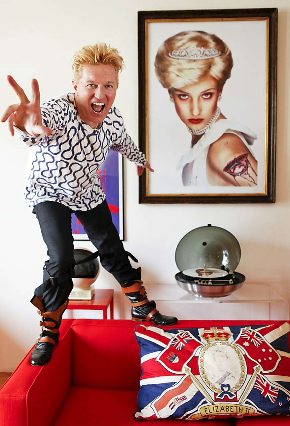 Mens fashion designer and punk rock musician Keanan Duffty is seen on Monday, March 18, 2013 in San Francisco, Calif.