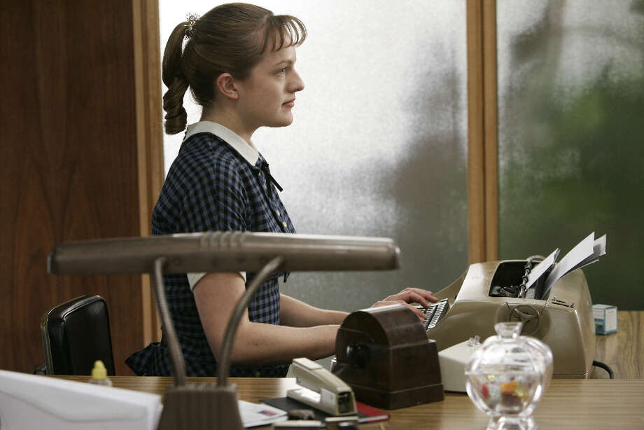 Peggy (Elisabeth Moss) is the newest addition to the secretarial pool at the Sterling Cooper Advertising Agency.