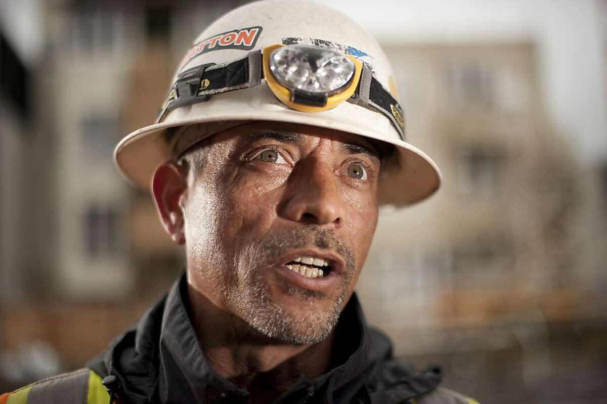 Construction worker Len Burgo discusses the Bay Area's job climate on Thursday, April 4, 2013, while building a housing development at 5th and Clementina Streets in San Francisco.