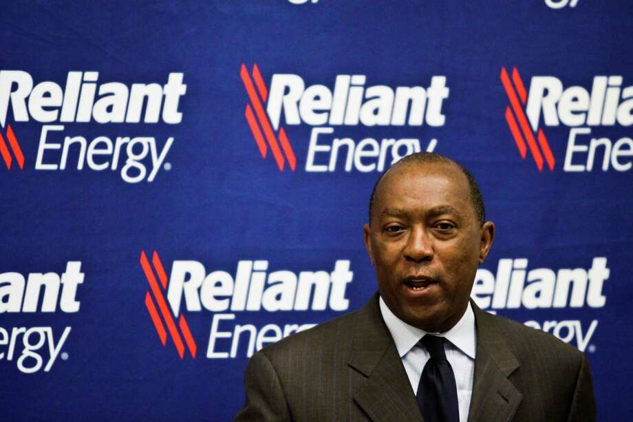State Rep. Sylvester Turner speaks as Reliant Energy announces its summer assistance for low-income customers across Texas program June 1, 2010 in Houston. Heat Relief for Houstonians with Beat the Heat Centers-Reliant announced details about several summer assistance programs being offered to customers across the state, including a voluntary moratorium on disconnections for residential critical care customers, qualified low-income seniors and other low-income customers and flexible payment options. (Eric Kayne/For the Chronicle) Photo: Eric Kayne, Freelance / Freelance