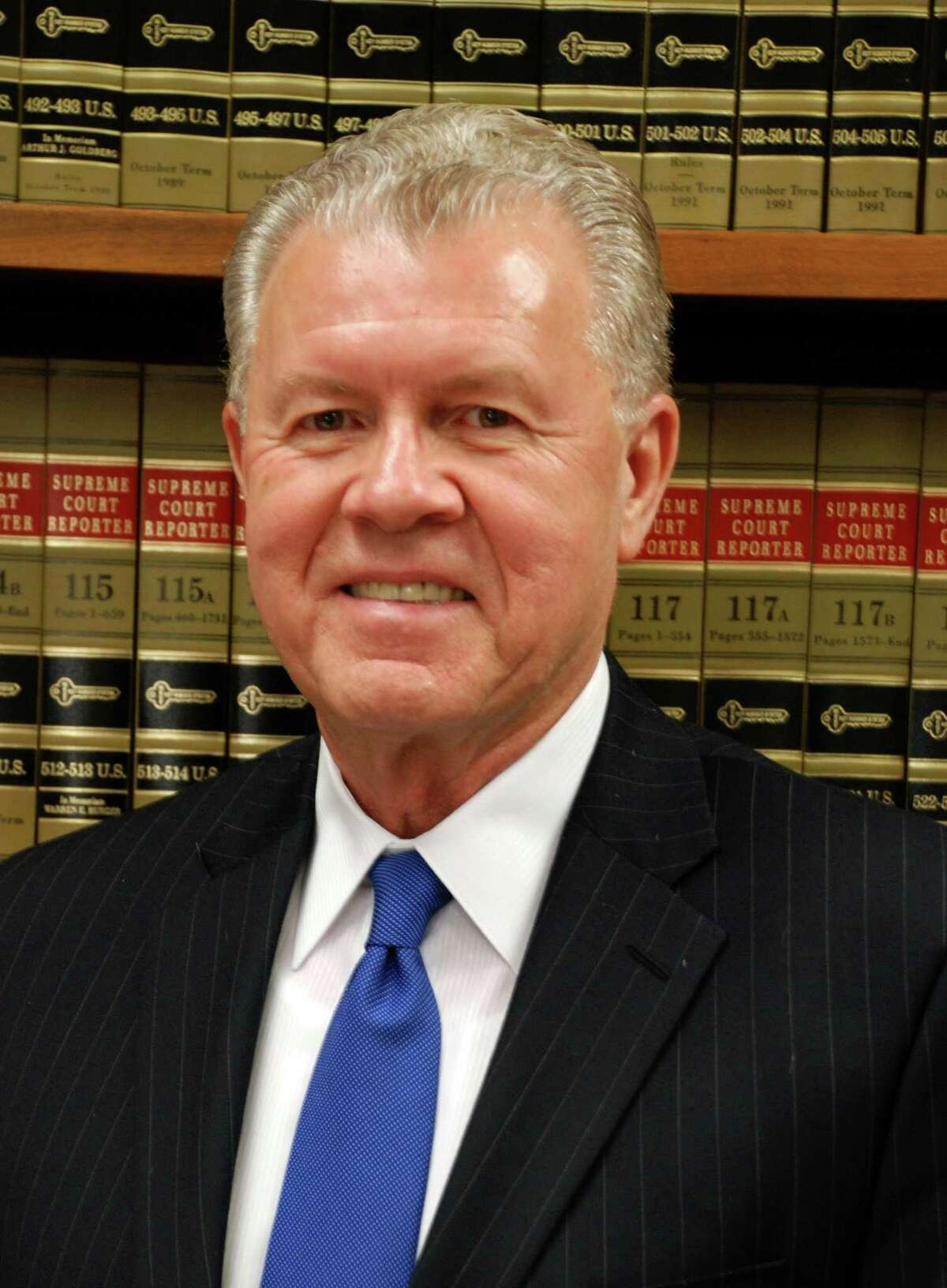U.S. District Judge Carl Barbier of New Orleans poses in this undated handout photo released to the media on Thursday, Feb. 23, 2012. How much BP Plc will pay for the 2010 explosion of a Gulf of Mexico oil rig that killed 11 people and caused the largest offshore spill in U.S. history may rest in the hands of Barbier, a former maritime lawyer who began his career representing sailors in personal-injury cases. Source: Office of Judge Barbier via Bloomberg EDITOR'S NOTE. NO SALES. EDITORIAL USE ONLY.
