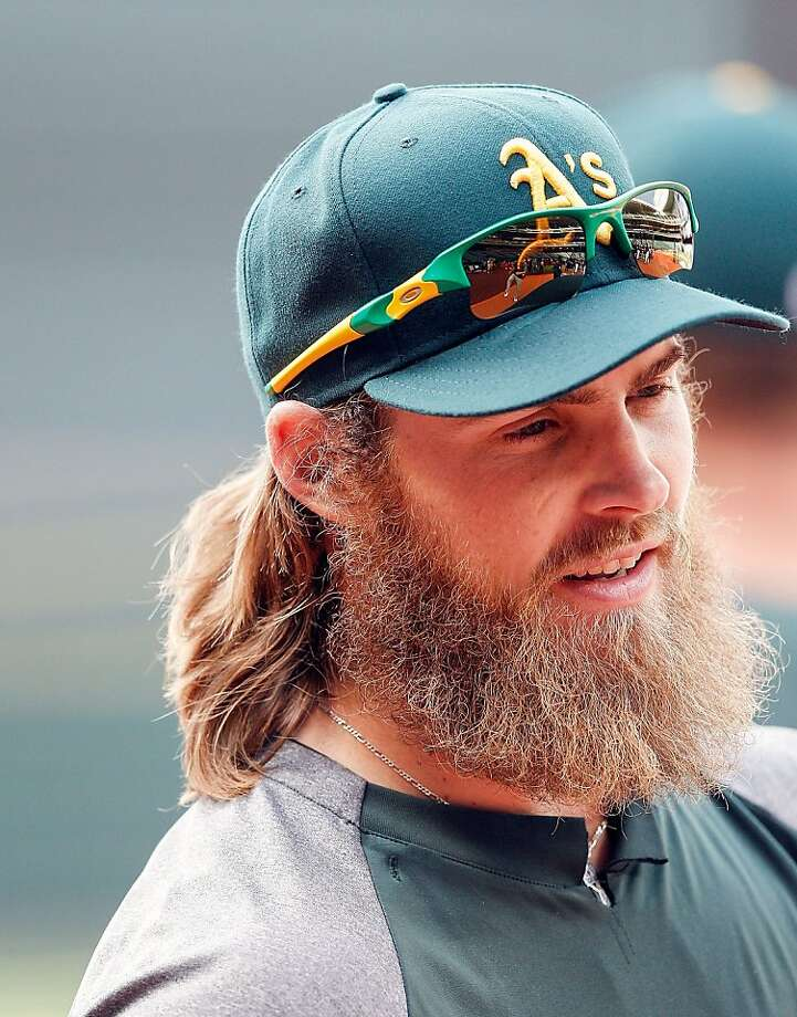 HOUSTON, TX - APRIL 05: Josh Reddick #16 of the Oakland Athletics during pre-game warmups before playing the Houston Astros at Minute Maid Park on April 5, 2013 in Houston, Texas. (Photo by Bob Levey/Getty Images) Photo: Bob Levey, Getty Images