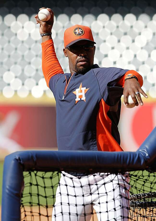 HOUSTON, TX - APRIL 05: Manager Bo Porter of the Houston Astros throws batting practice before playing the Oakland Athletics at Minute Maid Park on April 5, 2013 in Houston, Texas. (Photo by Bob Levey/Getty Images) Photo: Bob Levey, Getty Images