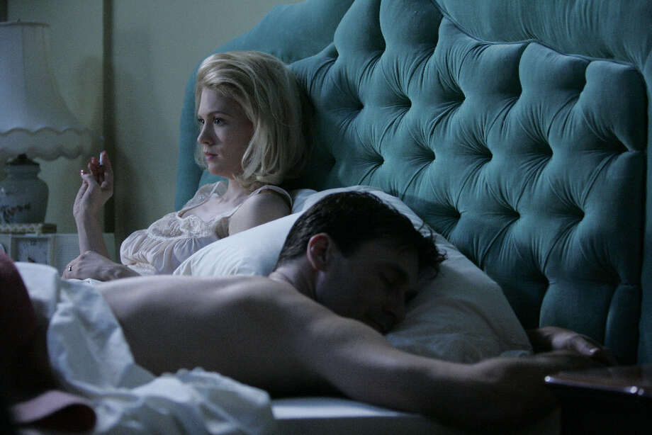 Betty Draper\'s (January Jones) thoughts are preoccupied and she finds it hard to sleep.