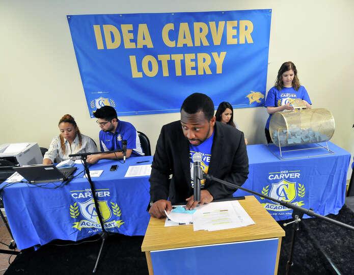 mackee mason principal of idea carver school reads off winning photo san. Black Bedroom Furniture Sets. Home Design Ideas
