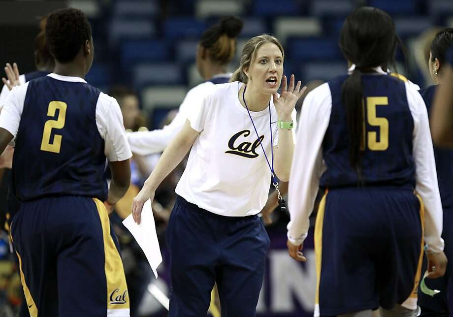 Head coach Lindsay Gottlieb in the middle of morning practice on Saturday April 6, 2013, as the Cal Bears women's basketball team prepares for the national semi-finals against the Louisville Cardinals in the 2013 NCAA Final Four Basketball Tournament at the New Orleans Arena. Photo: Michael Macor, The Chronicle
