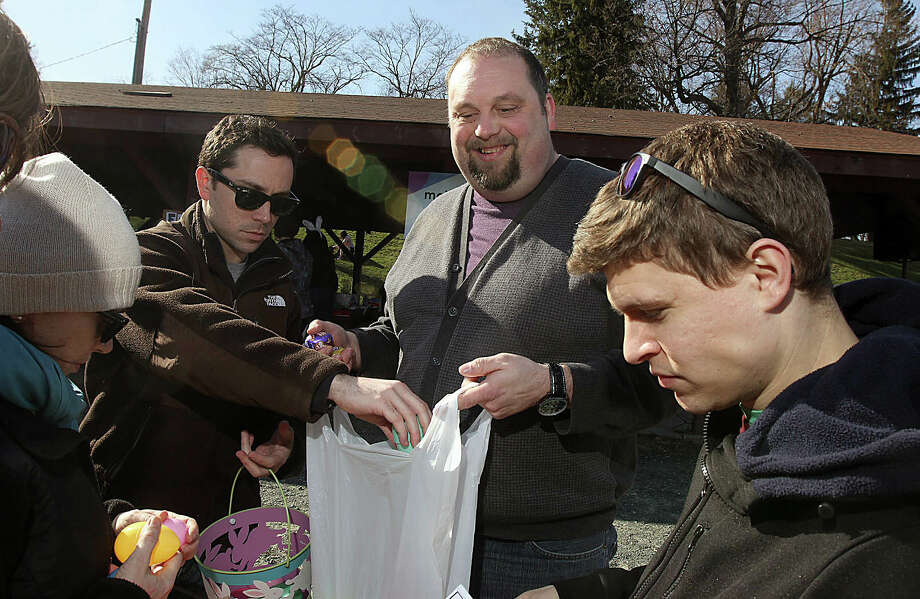 Were you Seen at the Grown Up Easter Egg Hunt in Troy's Prospect Park to benefit the Leukemia & Lymphoma Society and Crohn's & Colitis Foundation on Saturday, April 6, 2013? Photo: Joe Putrock/Special To The Times Union
