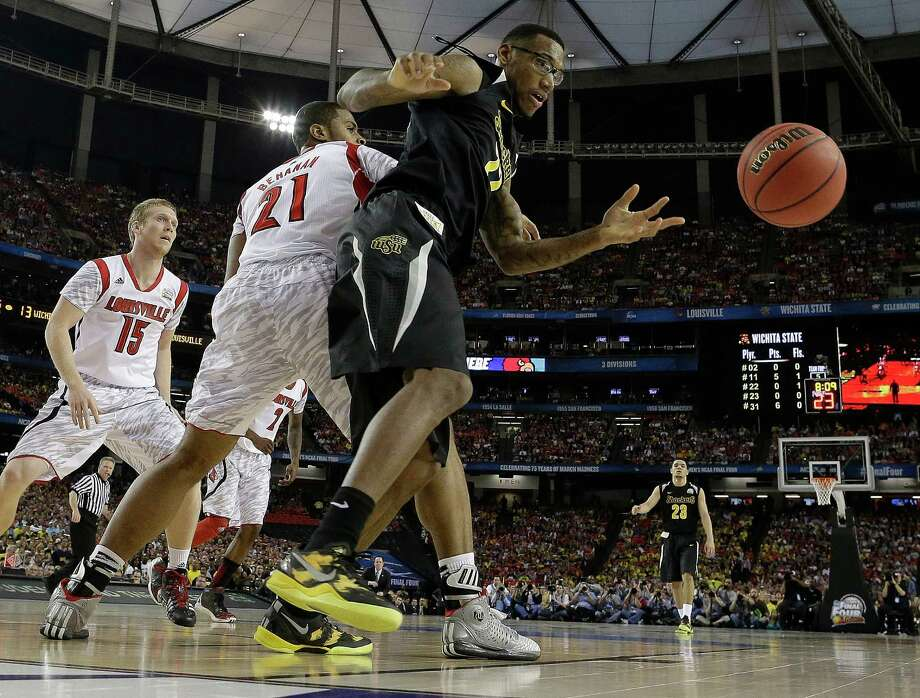 Road to Atlanta: Look back at the full March Badness bracketLive Updates: Follow all the Final Four actionWichita State's Carl Hall (22) vies for a loose ball against Louisville's Chane Behanan (21) during the first half of the NCAA Final Four tournament college basketball semifinal game, Saturday, April 6, 2013, in Atlanta. Photo: David J. Phillip, Associated Press / AP