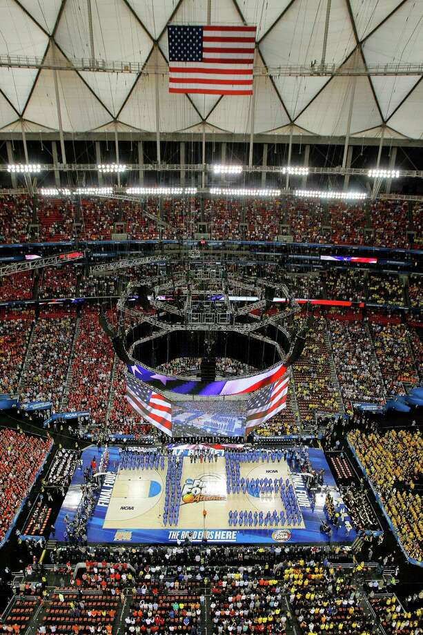 ATLANTA, GA - APRIL 06:  The Ebenezer Baptist Church Choir and Friends with  Avery Sunshine and conducted by Dr. Tony McNeill  perform the national anthem before the Louisville Cardinals takes on the Wichita State Shockers in the 2013 NCAA Men's Final Four Semifinal at the Georgia Dome on April 6, 2013 in Atlanta, Georgia. Photo: Streeter Lecka, Getty Images / 2013 Getty Images