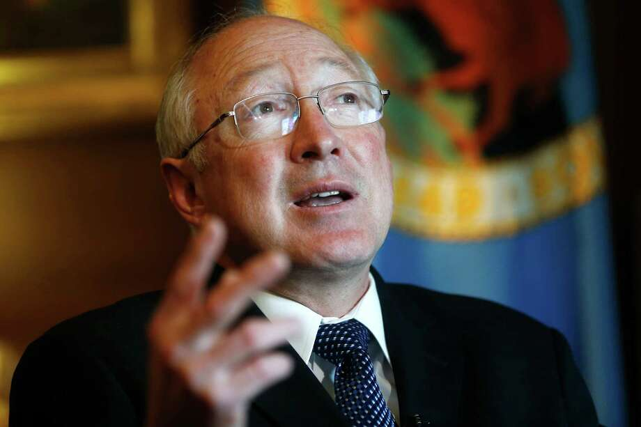 "Ken Salazar expects new hydraulic fracturing regulations will ""stand the test of time."" Photo: Charles Dharapak, STF / AP"